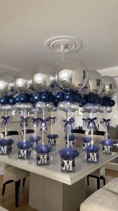 9 ideas for party ideas diy decorations new years event 2 « Kitchen Design Baby Shower Balloon Decorations, Balloon Centerpieces, Boy Baby Shower Themes, Baby Shower Balloons, Baby Boy Shower, Room Decorations, Diy Party Centerpieces, Baby Shower Ideas For Boys Centerpieces, Christening Table Decorations