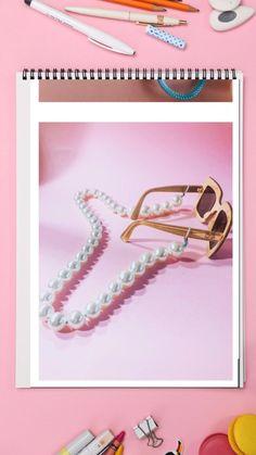 Catena per occhiali fai da te con perle, un DIY da fare in 5 minuti sul blog lo step by step Eye Glasses, Diy Fashion, Sunglasses, Bracelets, Blog, Jewelry, Bead, Eyewear, Jewlery