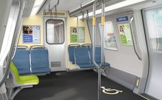 The proposed redesign for Bay Area Rapid Transit BART Tool Design, Design Process, Web Design, Mode Of Transport, Public Transport, Bus Interior, Interior Design, Bay Area Rapid Transit, Metro Rail