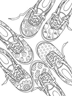 Follow Me Cushite Welcome To Dover Publications Sneaker Designs Coloring Book