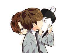 V kissing Jungkook Hip Hop Monster | That's adorable