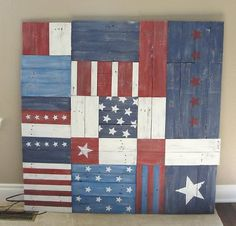 As we think of themes (like Religious for 2nd grade, etc), I think it would be nice to do some sort of project that was 'Proud to be American' and/or 'Proud Texan'.  We could do something like this with each section being painted with something American or Texan.
