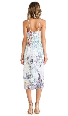 Clover Canyon Floral Line Drawing Dress