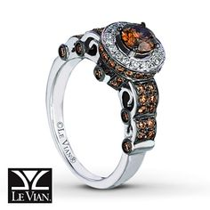 I am perfectly willing to wear my chocolate rather than eat it for one of these. - LeVian Chocolate Diamonds 1 1/5 ct tw Ring 14K Vanilla Gold