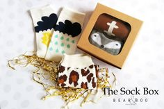 Learn more about Bear & Boo's monthly Sock Box subscription! 2 fun pairs for just $9.95 per month!