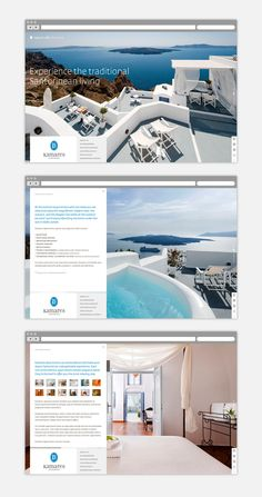 We design and develop websites and digital marketing strategies. We support new and established brands to become relevant to their targeted audiences and successfully obtain a refreshed digital brand image. Santorini Hotels, Santorini Island, Travel Around The World, Around The Worlds, Digital Marketing Strategy, Vacation Trips, Apartments, Travelling, Design