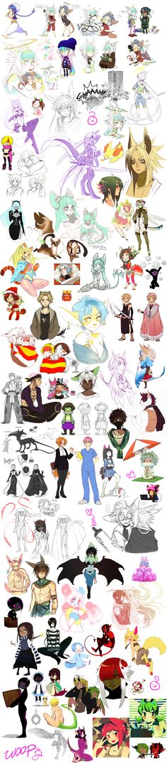 ArtDumpppp by CookieHana.deviantart.com on @deviantART ✤ || CHARACTER DESIGN REFERENCES | キャラクターデザイン • Find more at https://www.facebook.com/CharacterDesignReferences if you're looking for: #lineart #art #character #design #illustration #expressions #best #animation #drawing #archive #library #reference #anatomy #traditional #sketch #development #artist #pose #settei #gestures #how #to #tutorial #comics #conceptart #modelsheet #cartoon || ✤