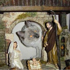 And then little baby Jesus was carried off by the enormous Catosaurus, the end!