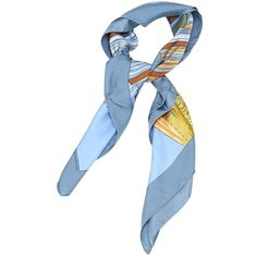 Pre-owned Hermès Carré Silk Neckerchief ($338) ❤ liked on Polyvore featuring accessories, scarves, multicolour, colorful shawls, pure silk scarves, print scarves, silk scarves and silk shawl