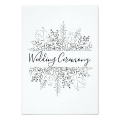 Spring Simplicity Wedding Ceremony Invites - invitations custom unique diy personalize occasions