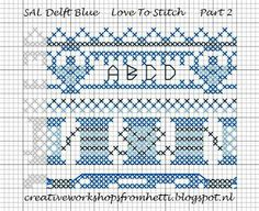 Creative Workshops from Hetti: SAL Delft Blue Love To Stitch Part 2