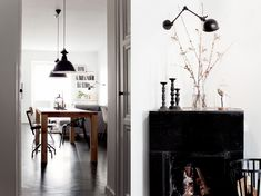This  industrial design home  belongs to Jakob Nylund,  a talented Swedish photographer with beautiful portfolio and really charming home.