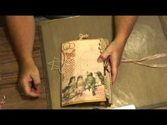 Shabby Chic Envelope Journal - YouTube