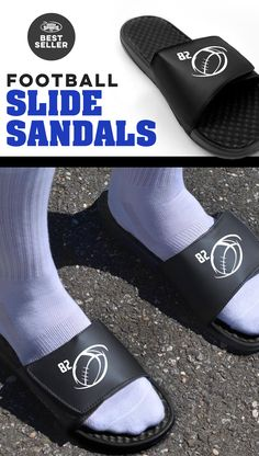 After running up and down the football field for a few hours, help your feet recover with these post game slide sandals. Many come with color options. Most can be personalized, which makes them a great team gift. See more styles on our site.