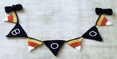 Halloween Pennants pattern by Lion Brand Yarn