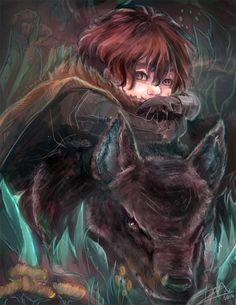 Rickon Stark by papelmarfil