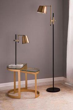 Unique Floor Lamps, Industrial Floor Lamps, Industrial Chic, Contemporary Floor Lamps, Industrial Bedroom, Ikea Floor Lamp, Brass Floor Lamp, Floor Lamp Base, Brass Lamp