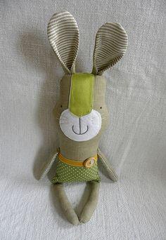 linen bunny by krakracraft, via Flickr