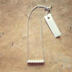 Straight pin pearl necklace, $14.00. www.mintsparrow.com