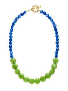 Cobalt & Green Quartz Kim Necklace