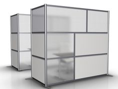 L-Shaped Minimalist Modern Office Partition by iDivide