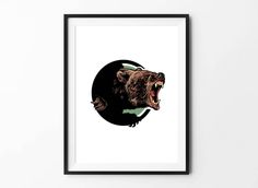 Bear poster, Bear art, Animal Wall Art, Digital Download Poster, Pencil drawing, Home Decor, Set of 5 JPG, Artwork, Picture, 18x24, Animal by BFWorkroom on Etsy