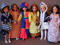 My Vintage Sindy Dolls & Outfits From 1974 - From my own collection Vintage Girls, Vintage Barbie, Vintage Toys, 1974 Fashion, Fashion Dolls, Sindy Doll, Ken Doll, Tammy Doll, Fur Wrap