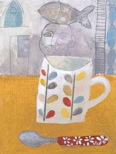 Mug & Spoon St Ives by Elaine Pamphilon | Giclée Print | 24 x 18 cm…
