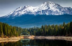 Mt. Shasta Over Lake Siskiyou