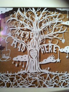 Family tree papercutting