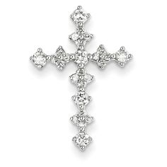 14k White Gold Diamond Passion Cross Pendant....Beatiful