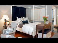Interior Design — Tips & Tricks For Decorating A Small Studio Apartment - YouTube (350 sq. studio)