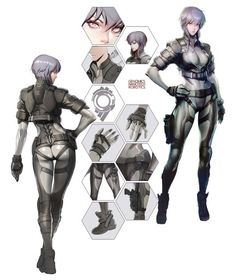 Motoko Kusanagi concept design #GhostintheShell #StandAloneComplex #FirstAssault