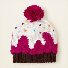 Baby Girls Cupcake Knit Hat - Multi - The Children's Place