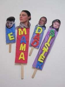 family puppets -- great idea for family theme