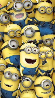 Despicable Me minions have only been around for five years. Everywhere you turn there's a minion or minion reference. Here are 10 Fun Facts about Minions. Amor Minions, Minions Quotes, Whatsapp Wallpaper, Iphone 5 Wallpaper, Disney Wallpaper, Minion Wallpaper Hd, Wallpaper Ideas, Wallpaper Awesome, Bedroom Wallpaper