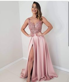 Pink Long Prom Dresses satin Evening Dresses A-Line Formal Dresses CR 5949 Best Formal Dresses, Prom Dresses Long Pink, Prom Dresses For Teens, Bridesmaid Dresses, Blush Pink Long Dress, Prom Gowns, Homecoming Dresses, Party Dresses, Classy Evening Gowns