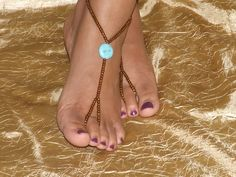 barefoot jewelry | Barefoot sandals Foot jewelry Anklet by SubtleExpressions on Etsy