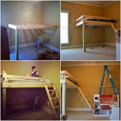 """Learn even more relevant information on """"bunk bed ideas for small rooms"""". Check out our site. Bunk Beds With Storage, Cool Bunk Beds, Kids Bunk Beds, Big Girl Rooms, Boy Room, Black Bunk Beds, Loft Beds For Small Rooms, Kids Rooms, Loft Spaces"""