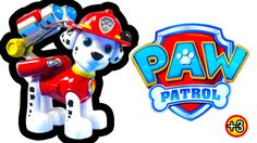 Paw Patrol JUMBO Action Pup Marshall Kids Toy Review Nick jr Spin Master