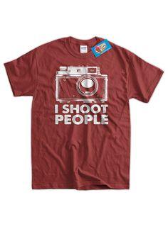 a1910bde Photography Camera T-Shirt I Shoot People film Camera Tshirt distressed  print v3 Photographers Tee S
