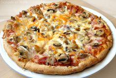 Cocinando en Marte: Pizza de jamón york y champiñones