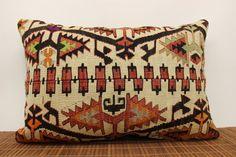 Anatolian Lumbar kilim pillow cover 16 x 24 by kilimwarehouse, $75.00