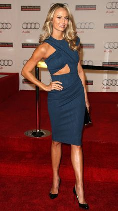 Stacy Keibler Photos - Actress Stacy Keibler attends the Audi Celebrates the Grand Opening of Audi Beverly Hills on March 2012 in Beverly Hills, California. - Audi Celebrates The Grand Opening Of Audi Beverly Hills Fashion Art, Fashion Show, Fashion Looks, Womens Fashion, Girl Celebrities, Beautiful Celebrities, Beautiful Women, Celebs, Dress Skirt