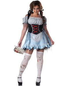 Zombie Beer Maiden Adult Womens Plus Size Costume