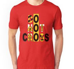 DO NOT CROSS: One of my favorite shirts I made out of shear boredom. I just played around with the phrase and came up with this. It looks awesome on all of the items.