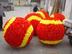 strafor çiçek topları dev boyutlu