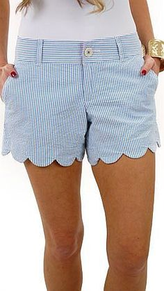 Cute scalloped shorts are all the rage this Spring. #shorts #scalloped #springstyle