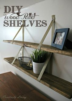 Shelves Pallet diy wood pallet shelves, diy, pallet, shelving ideas, woodworking projects - The wonderful things you can make with pallet wood. Diy Wood Pallet, Pallet Shelves Diy, Wooden Pallets, Wood Shelves, Wood Storage, Storage Shelves, Buy Pallets, Bedside Storage, Bedroom Storage