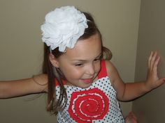 A personal favorite from my Etsy shop https://www.etsy.com/listing/155630482/large-flower-headband-white-lace-chiffon